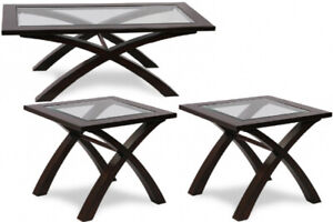 ELEGANT 3 PIECE COFFEE TABLE SET FOR ONLY $300
