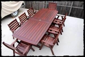 "Jensen Jarrah "" timber Outdoor Dining Setting. Brisbane City Brisbane North West Preview"