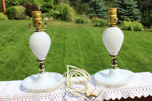Antique hobnail lamps (as they are) London Ontario image 1