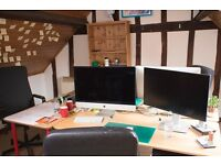 Desks to rent in central Lewes shared office space
