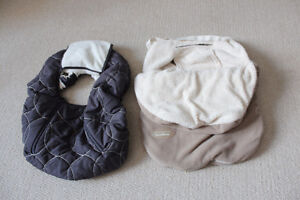 2 car seat covers/blankets