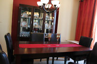 DINING ROOM SET & CHINA CABINET--REDUCED--$1250.00