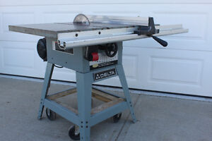 "DELTA TABLE SAW  10"" MODEL  # 36-650  1  1/2 HP     $ 350.00"