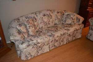 Floral La-Z Boy Couch and Love Seat - Great Condition