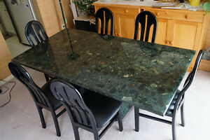Real Marble Dining Table Set and 6 chairs (7 PC) *MINT*