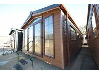 NEW Sunrise Lodge Mobile Home   40x13 2 bed Static Log Cabin   Annexe Idea