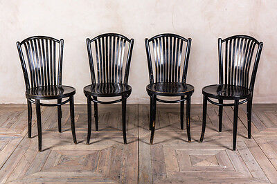 STICK BACK BLACK DINING CHAIR RETRO VINTAGE BENTWOOD STYLE KITCHEN CHAIRS