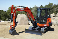 Mini-excavator for hire. $40/hr with operator.