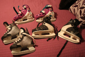 Size 9 youth, size 12 yought, multi size youth purple skate