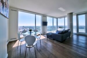 BRAND NEW LUXURY YUL CONDO DOWNTOWN  2 BEDROOMS ALL FURNISHED