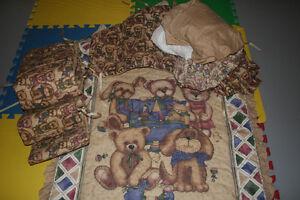 Teddy Bear Crib Bedding Set London Ontario image 1
