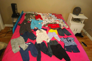 Lot of 3 to 6 month baby boy clothes , never worn .