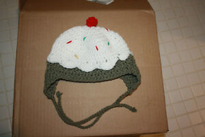 Handmade crochet sundae hat Never worn