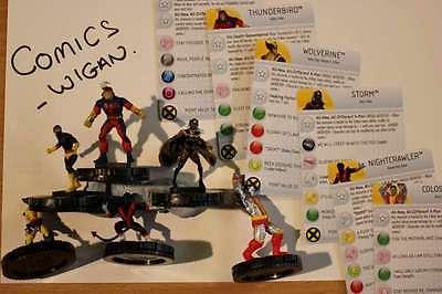 Marvel Heroclix Uncanny X-Men ##001#002#003#004#006#021 xmen team set