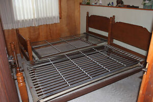 2 Solid Maple  Twin Bed Frames & Springs