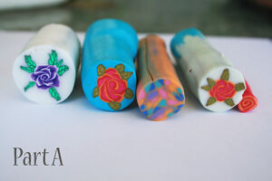 5 original unbaked polymer clay canes made by artist Kitchener / Waterloo Kitchener Area image 1