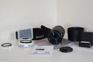 Sony E 55-210mm F4.5-6.3 Lens, UV Flilter and NP-FW50 Battery