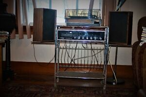 Vintage Cassette/Phono/Radioplayerw' stand/record/Track Cassette