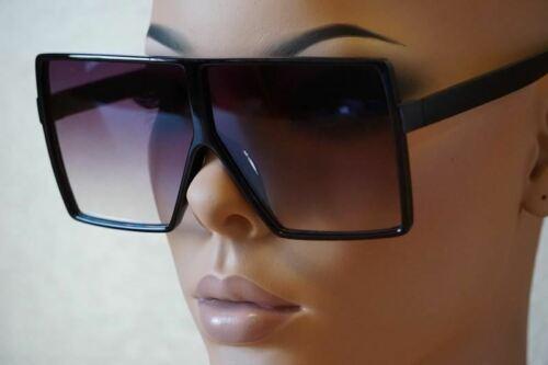 Women Flat Top OVERSIZED Sunglasses Retro Vintage Square Sha