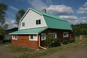 #TelusHelpsMeSell 85 acre property with log house in Nazko