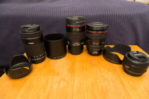 Canon lenses for sale. Changing system