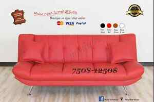 Sofa bed,Futon,Sofa lit,Canapé,Causeuse,*Cuir Véritable*
