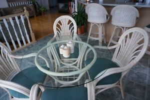 Wicker Rattan Table and Chairs