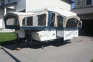 Starcraft Folding Camping Trailer and ProRac 4 Bike Rack