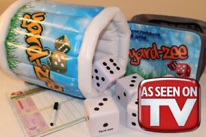 Epic Yardzee Indoor/Outdoor Large Soft Dice Game. Yard Yahtzee