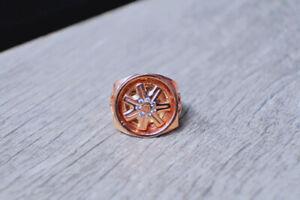 "Exclusive Men's ""Spinning Wheel"" Ring in 10K Gold"