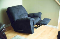 LIKE NEW suede Swivel chair with foot raiser BEST OFFER