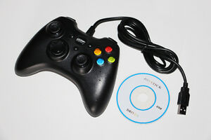 PC-MANETTE FIL/WIRED CONTROLLER-XBOX 360 MODEL-BLACK (NEUF/NEW)