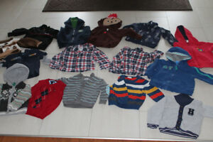 18m boys vests and hoodies 2$ each or 25$ for all