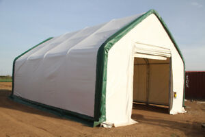 NEW 20 WIDE DOUBLE TRUSS FABRIC STORAGE BUILDING HAY FARM GARDEN