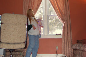 """TWO PANEL DRAPES FOR A 60"""" TO 80"""" WIDE WINDOW OR PATIO DOOR"""