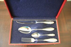 VINTAGE WMF PATTEN SILVER PLATE SET OF 4 MARKED 90-45