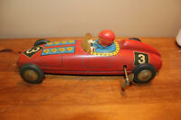 Vintage Tin Wind Up Toy Car