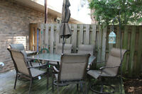 Patio Set with table, 6 chairs and umbrella