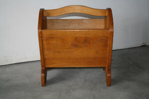 Solid Oak Country Magazine Rack