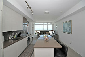 FULLY FURNISHED 2 BEDROOM + DEN CONDO FOR RENT - LAKE VIEW!