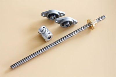 1000mm T8 Lead Screw Set Brass Nut Shaft Coupling 58mm 2pcs Bearing Block