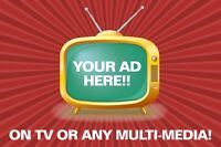 Offering TV/Multi Media Ads Creation!