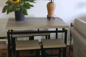 BRAND NEW WAYFAIR TABLE AND CHAIRS