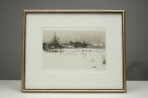 1982 Susan Paterson Etching Print 21/30  'Across the Meadow'