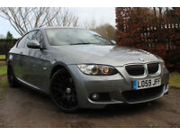 BMW 325 3.0TD auto 2009 d M Sport GRAPHITE GREY CORAL RED LEATHER