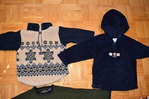 Gars 4T veston polar tricoté/ Boy 4T knitted polar sweater