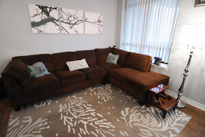 SECTIONAL SOFA - CHOCOLATE BROWN, GREAT CONDITION