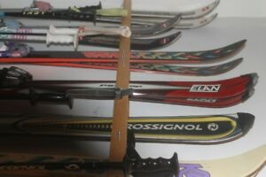 Skis, poles, ski boots - various sizes - great condition