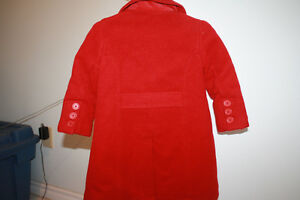 Gap red wool peacoat size 2 years Moose Jaw Regina Area image 2
