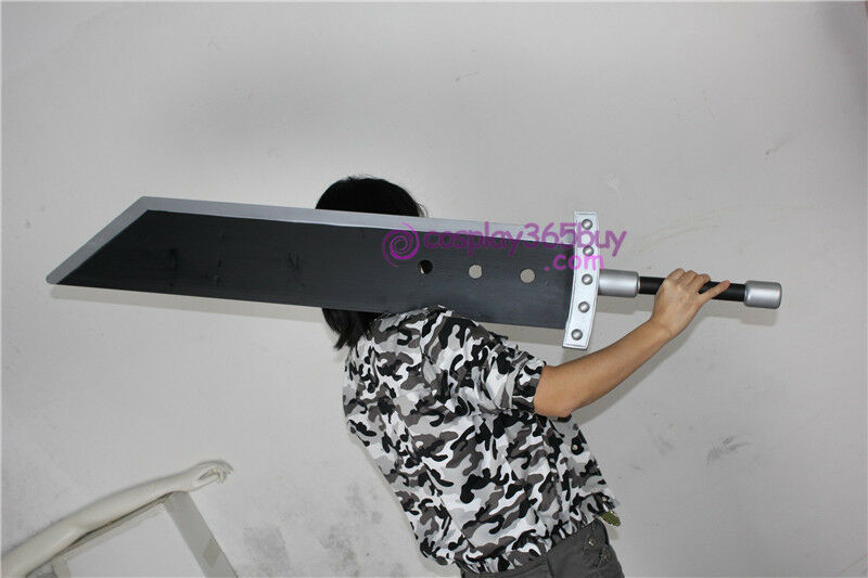 Final Fantasy 7 Cloud Strife Blade sword wood made cosplay prop